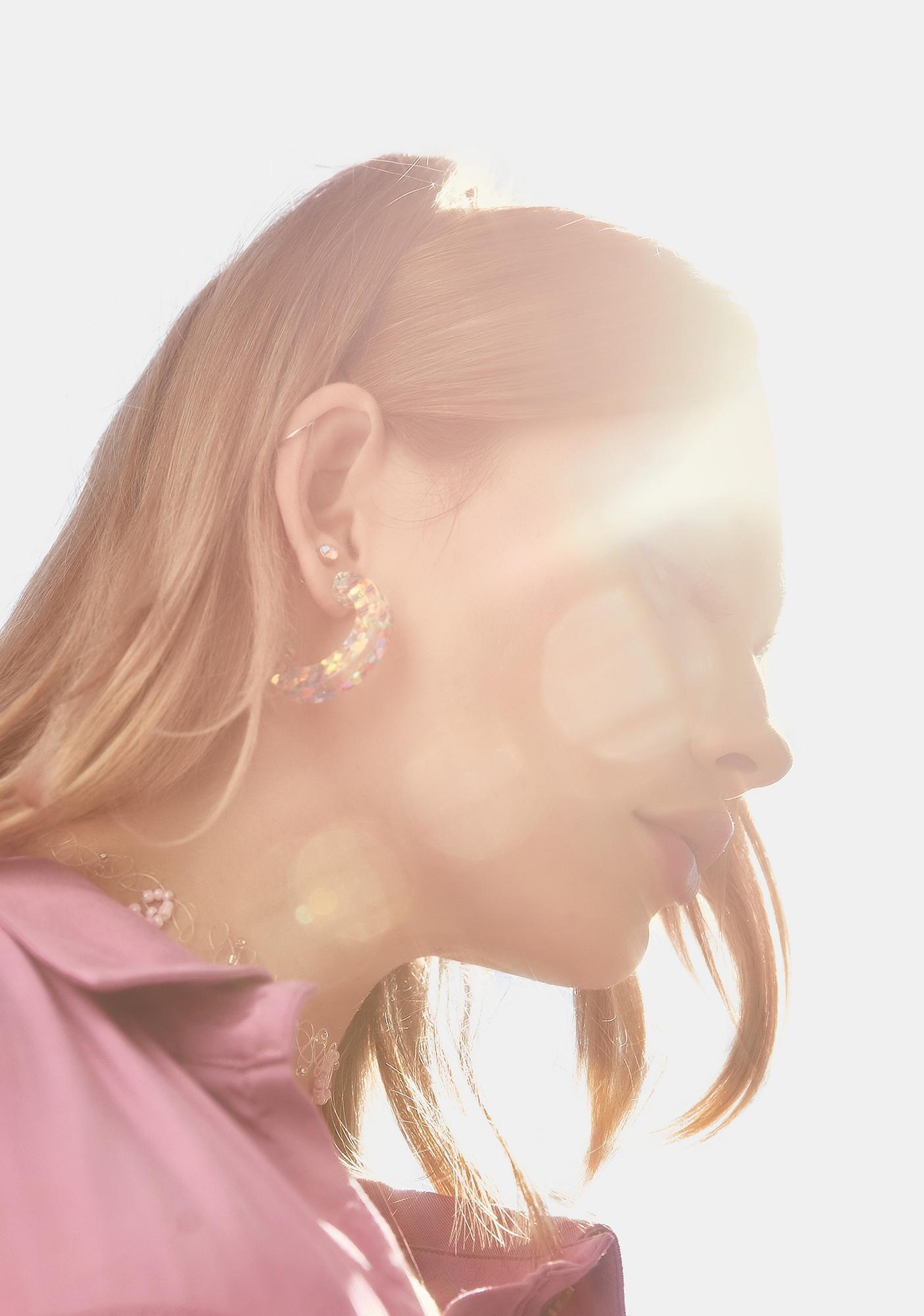 Rainbow Replica Hoop Earrings