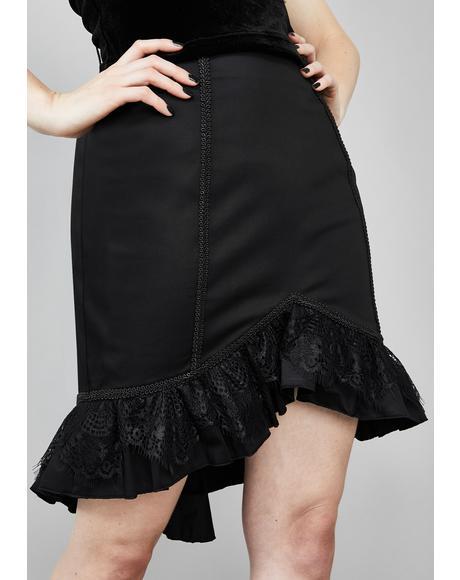 Dark Exodus Lace-Up Skirt