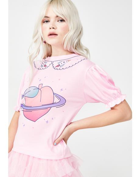 Peach Planet Graphic Tee