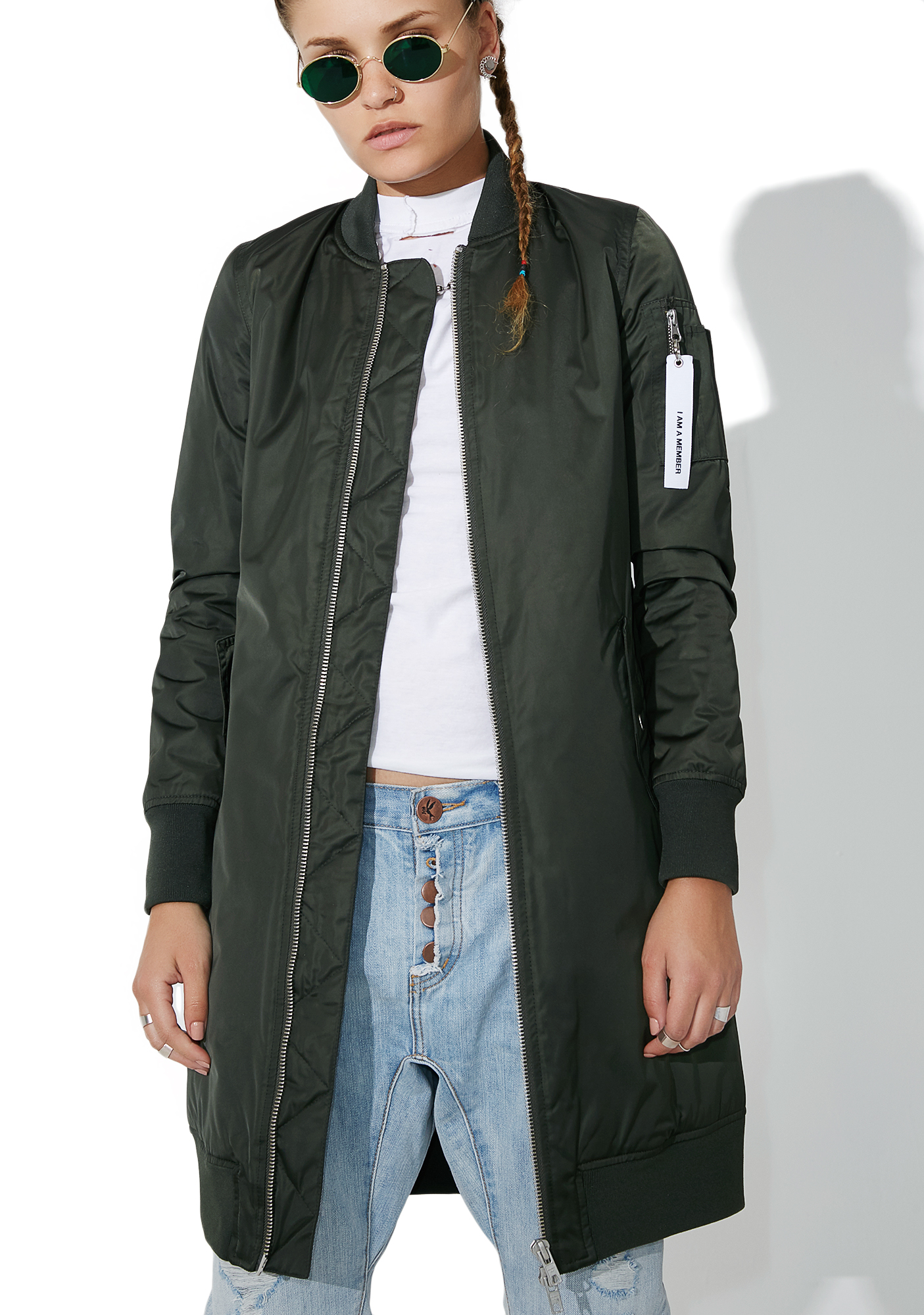 Members Only Elongated Bomber