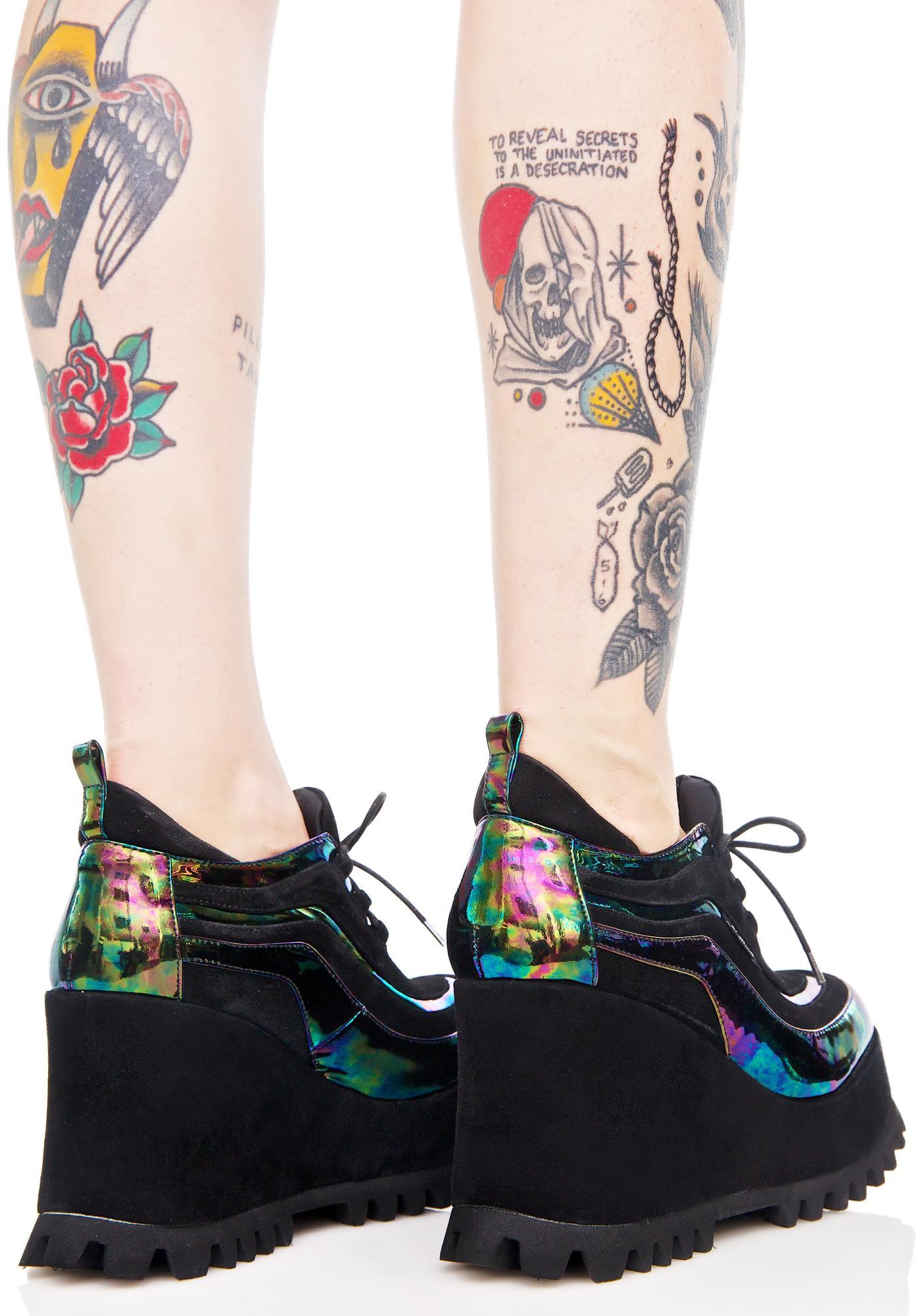 Shellys London Oil Spill Ritchie Platform Sneaker