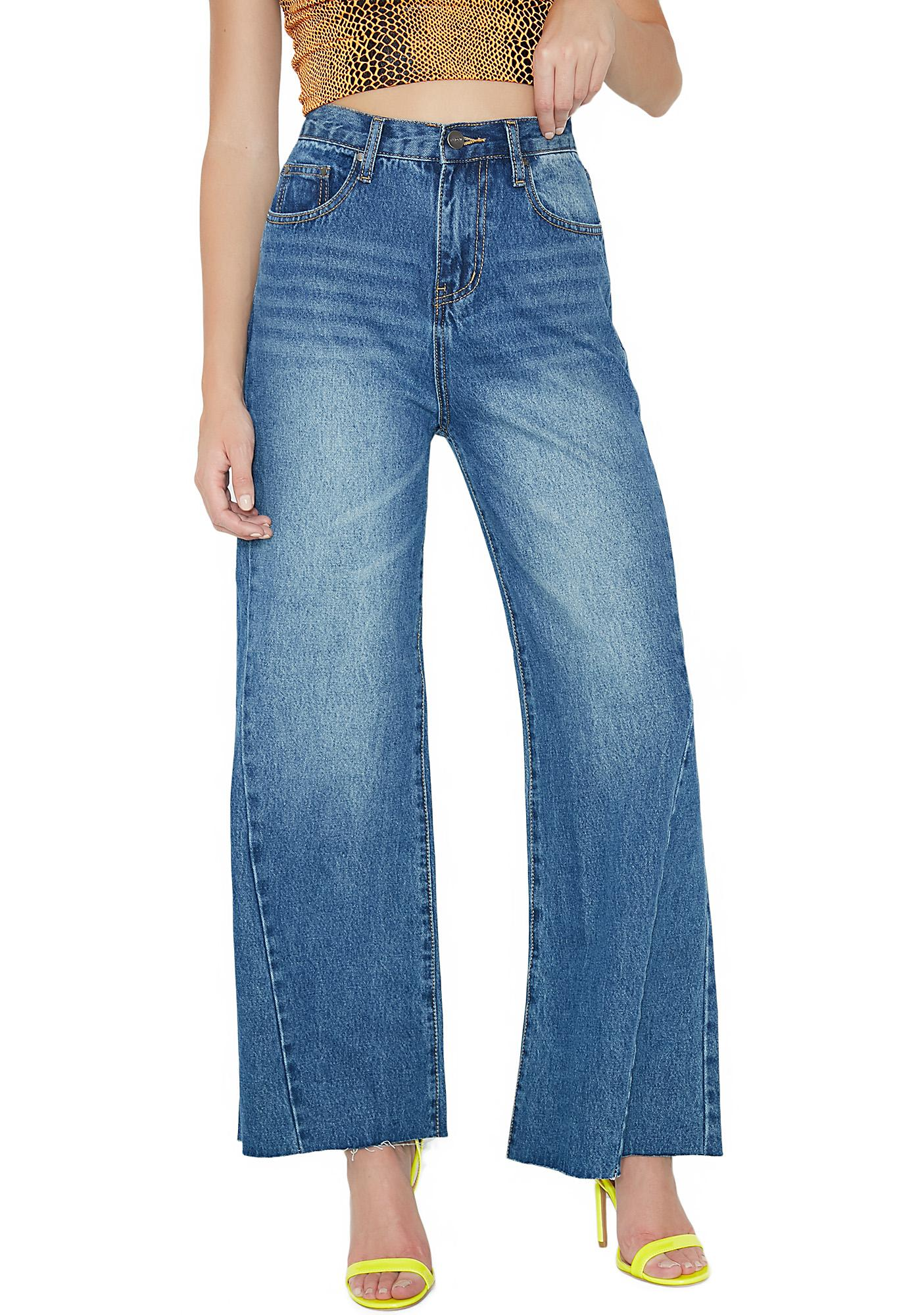 d8870558be128 EVIDNT Flare Cropped Jeans   Dolls Kill