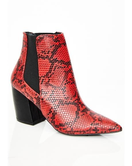 Siren Slither My Way Snake Booties