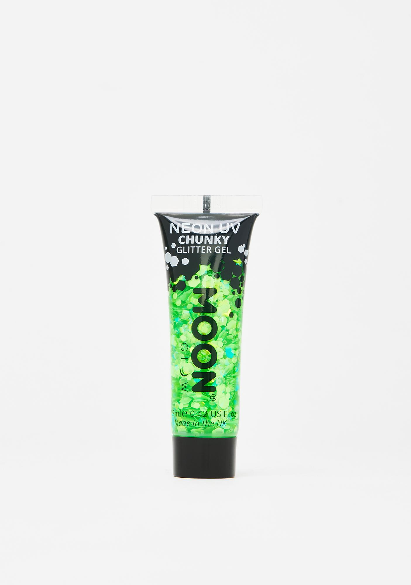 Moon Creations Green UV Chunky Glitter Gel