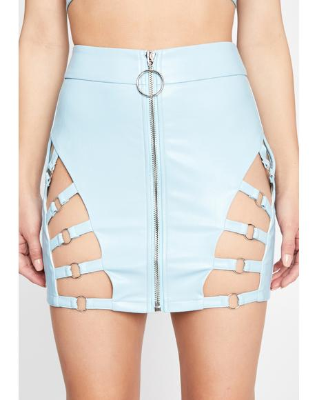 Sky Iconic Kinks Cut-Out Skirt