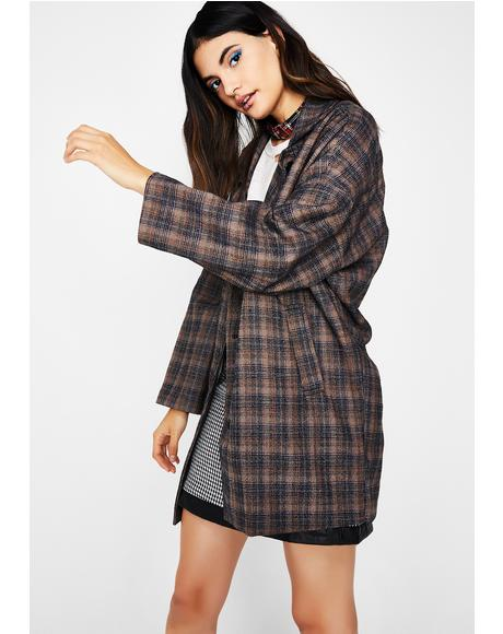Boss Up Plaid Jacket