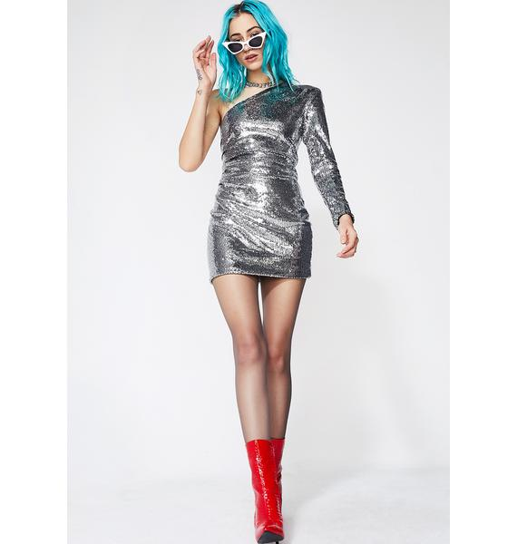 Miss Thing One Shoulder Sequin Dress