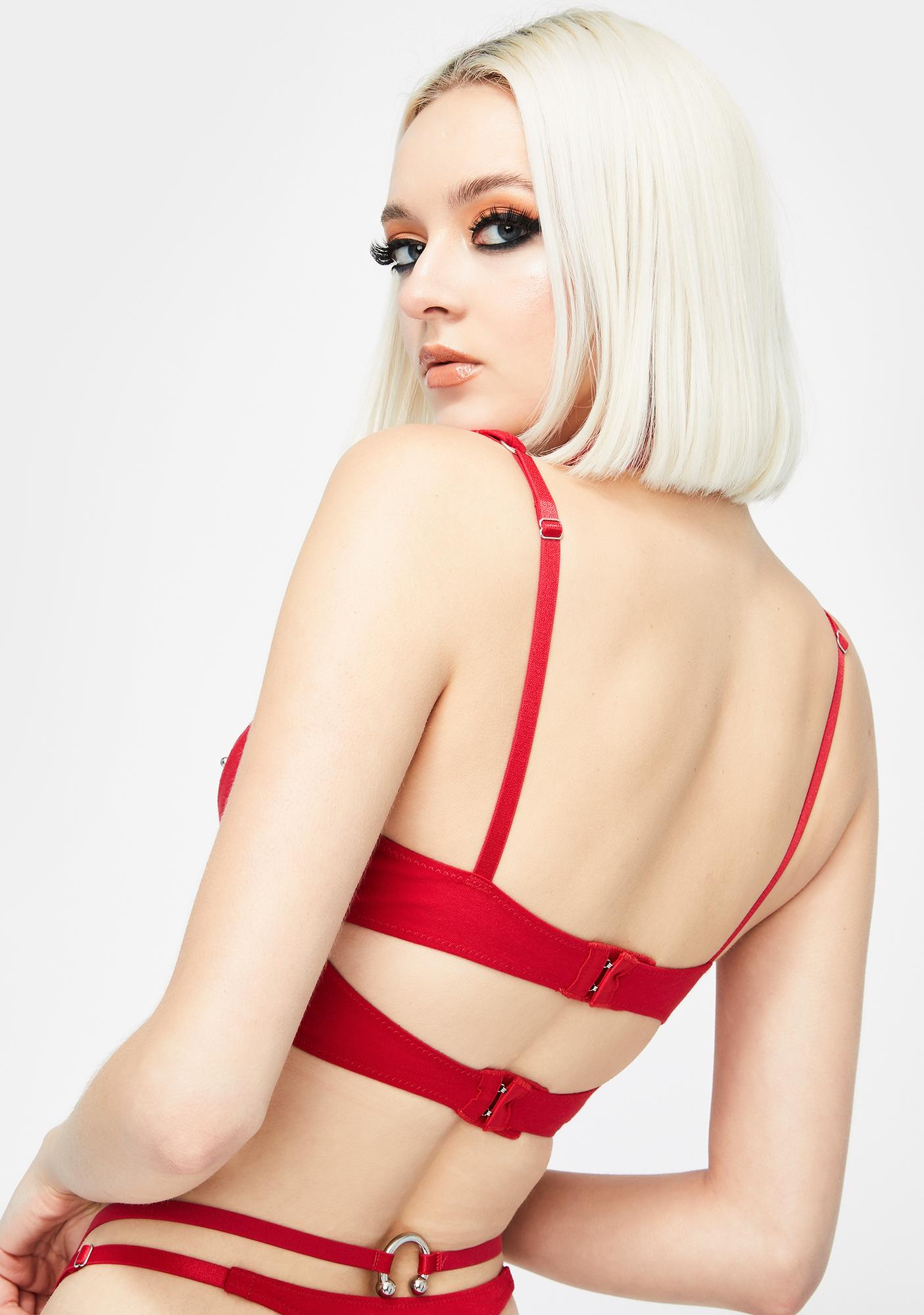 The End Lingerie Red Under My Skin O-Ring Bralette