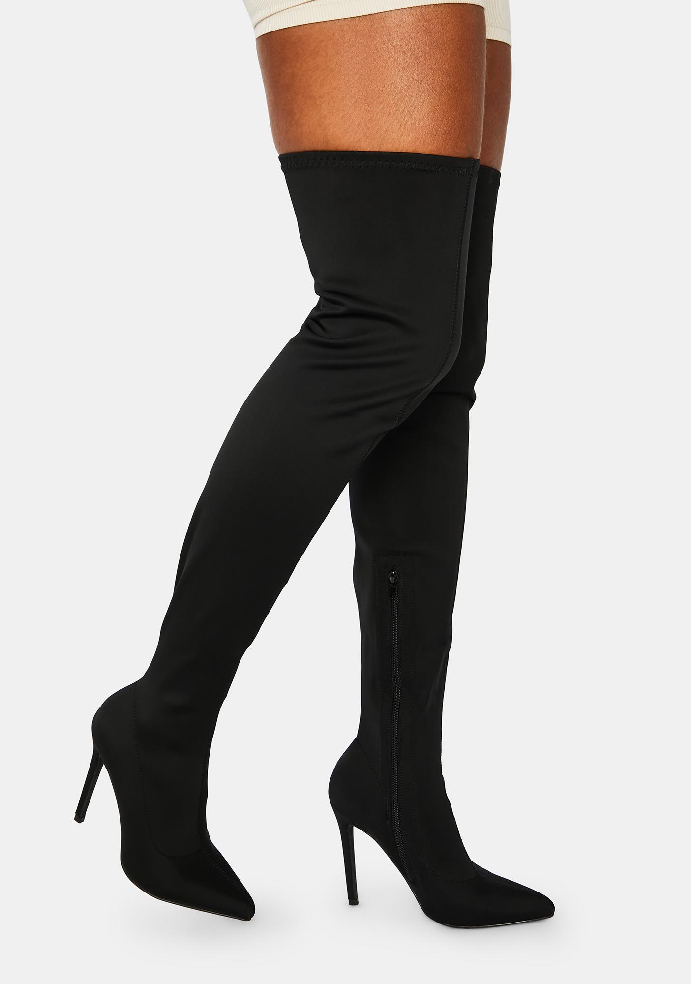 Off Duty Diva Thigh High Boots