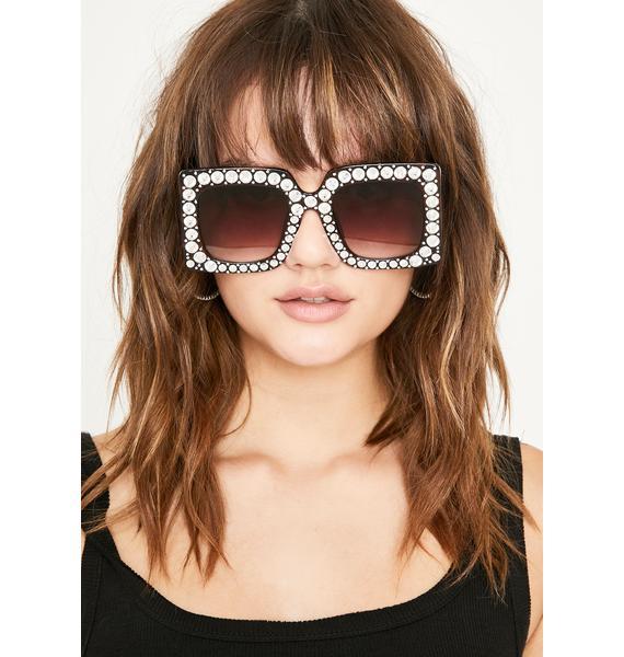 Dark Pop The Dream Rhinestone Sunglasses