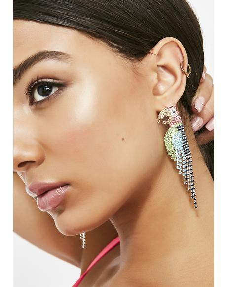 Pretty Polly Parrot Earrings