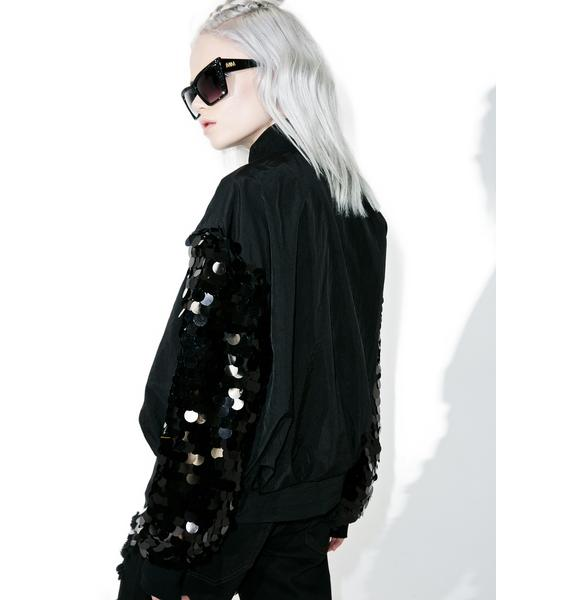 Teleport Sequined Bomber Jacket