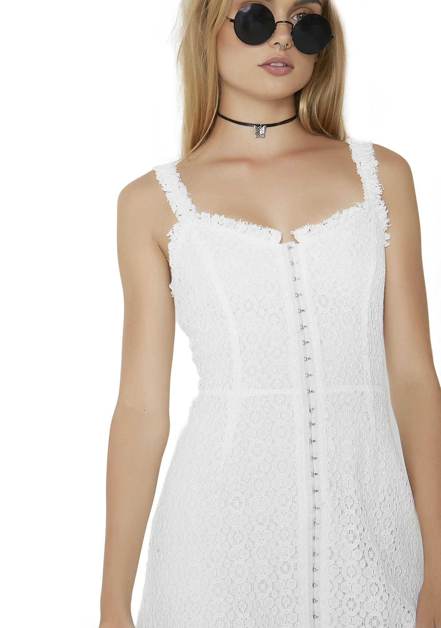 Not Yours Lace Hook Dress