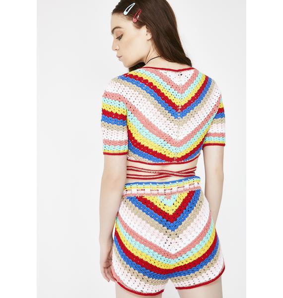 Wildfox Couture Gigi Crochet Shorts