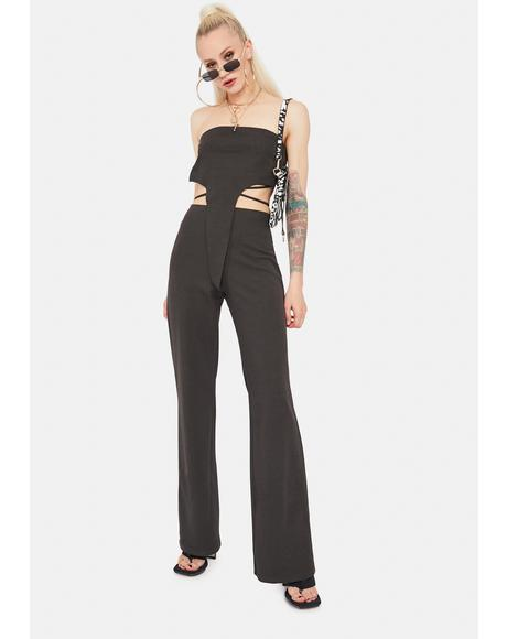 Hittin' Goals Crop Top & Flares Set