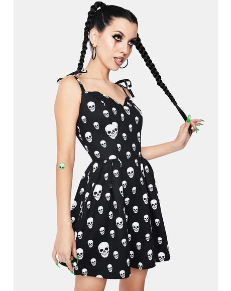 Corrie Spooky Skulls Mini Dress