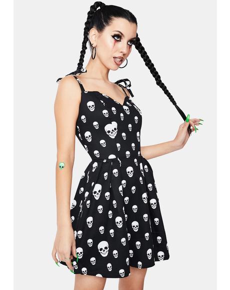Corrie Spooky Skulls Mini Dress