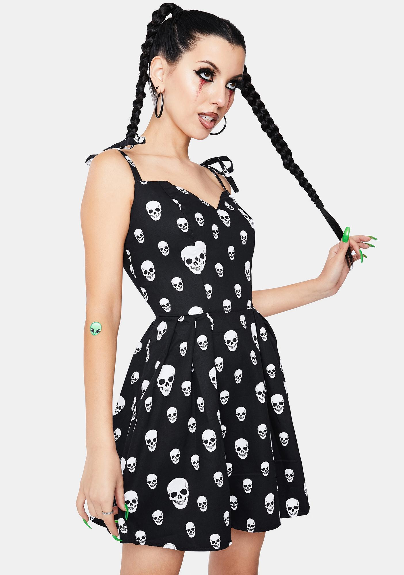 Dr. Faust Corrie Spooky Skulls Mini Dress