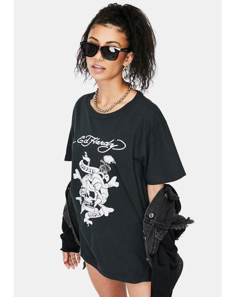 Faded Black Graphic Tee