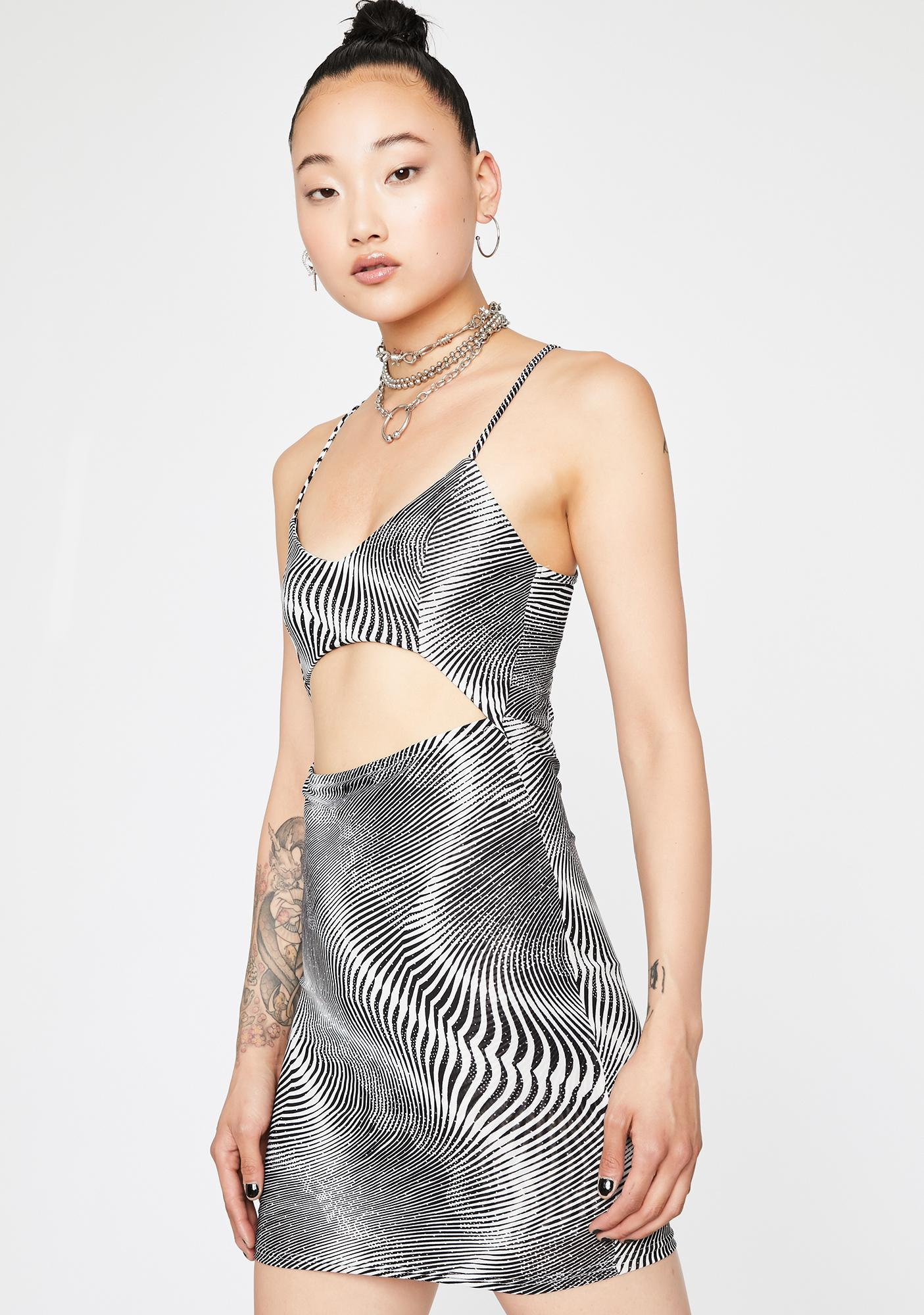 Miss Illusion Cut Out Mini Dress