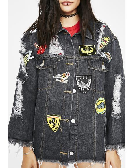 Heavy Hitta Patch Denim Jacket