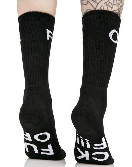 Fuck Off Crew Sock