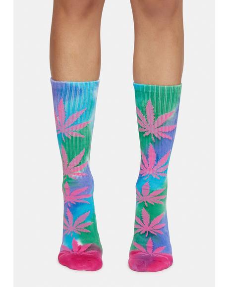 Pink Drip Tie Dye Plantlife Socks