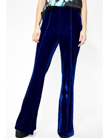 Berry Divine Woman Velvet Pants