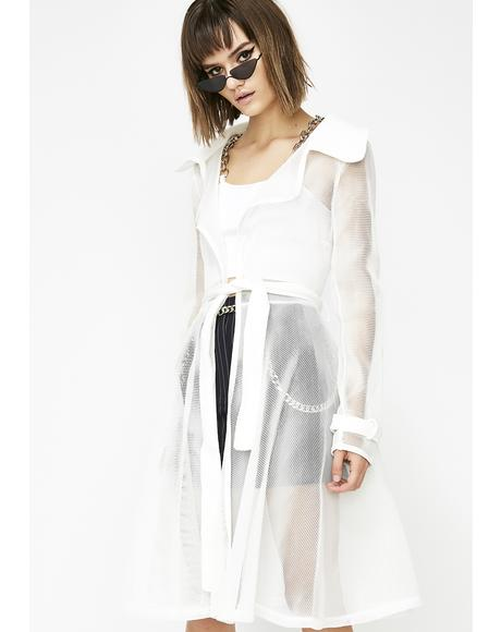 Pure Winning Streak Mesh Trench Coat