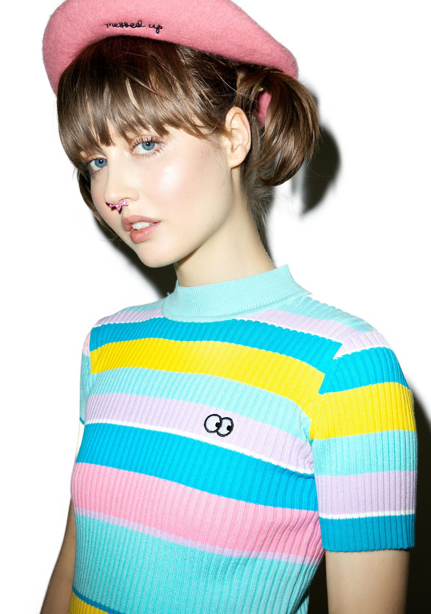 Lazy Oaf Rainbow Knit Tee