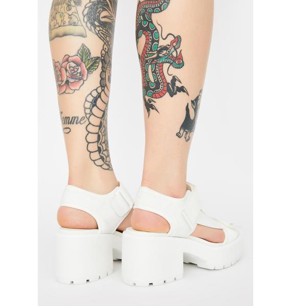 VAGABOND SHOEMAKERS White Textile Dioon Platform Sandals