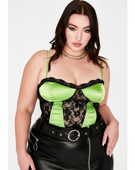 Dank High Pedestal Princess Satin Bustier