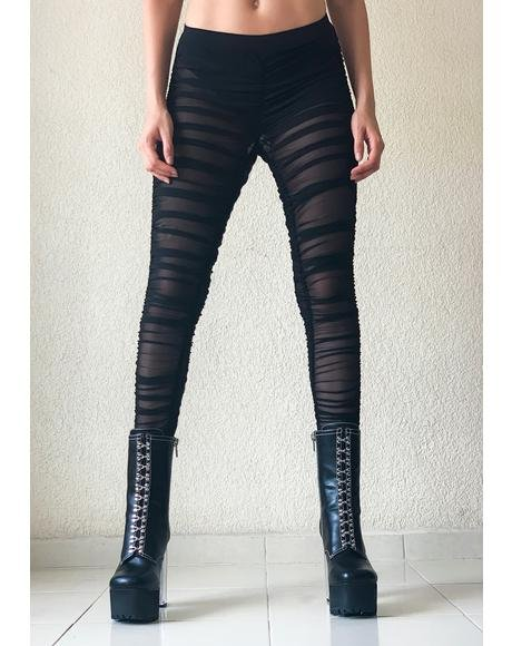Baddie Goals Ruched Leggings
