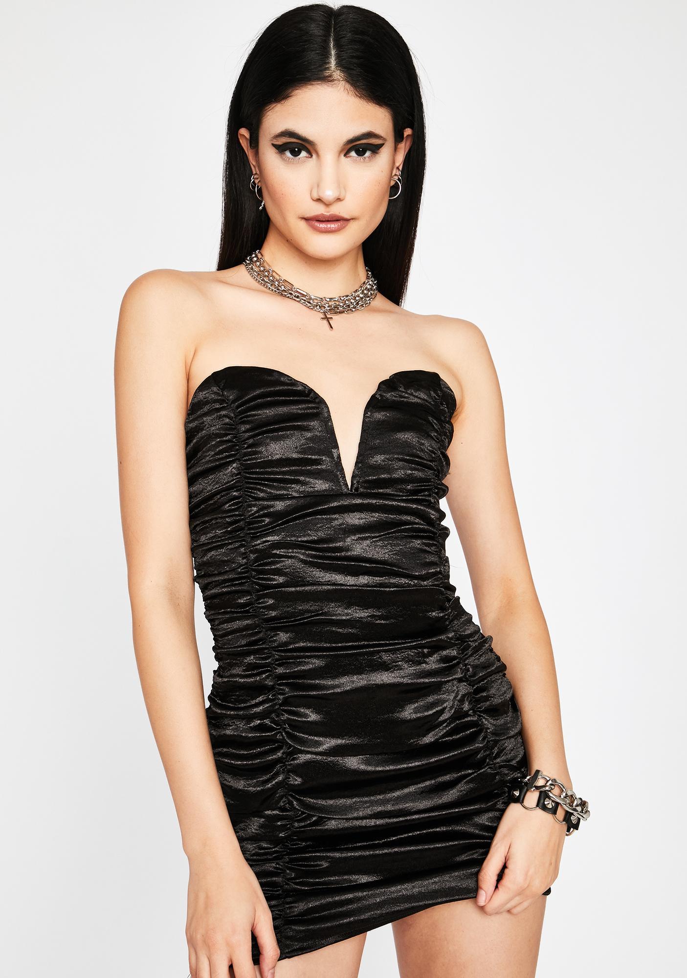 Wicked Diva Dreams Satin Dress