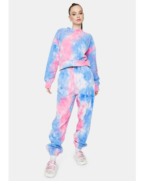 Fairy Living The Dream Tie Dye Jogger Set