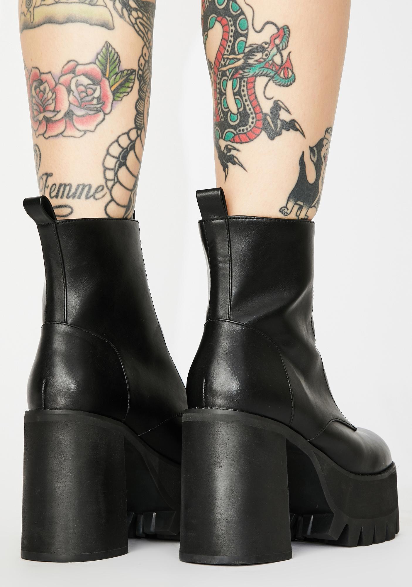 Poster Grl Trill Mannered Platform Boots