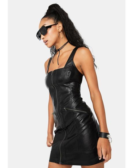 Johnny Vegan Leather Mini Dress