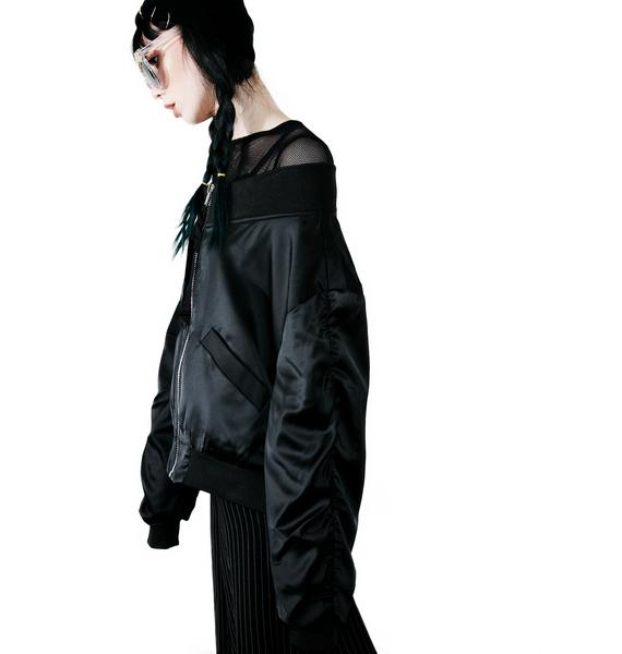 Dark Hold Me Off-Shoulder Jacket