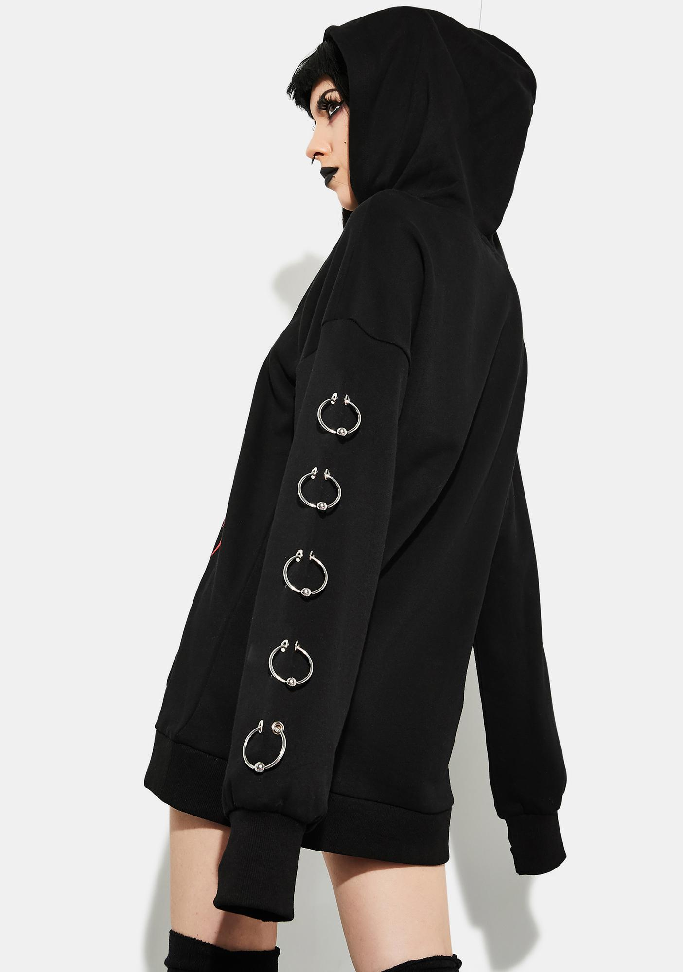 Current Mood Gates Of Hell Pierced Hoodie