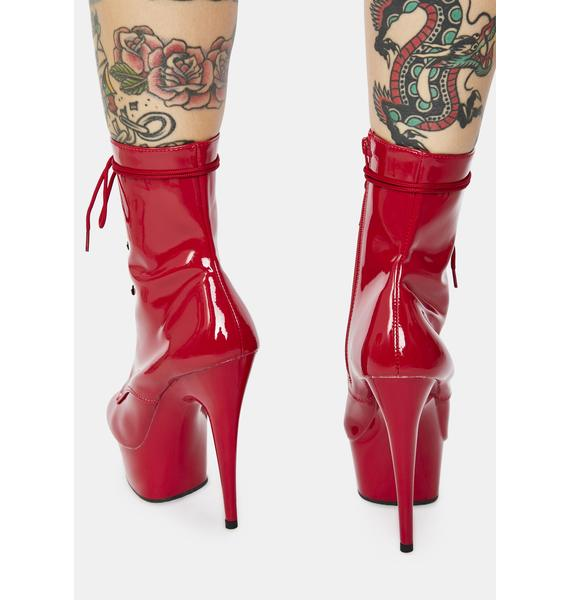 Pleaser Crimson Sinful Addiction Stiletto Boots