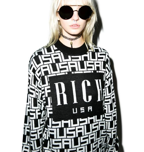Joyrich USA Frontgram Highneck Knit Crew
