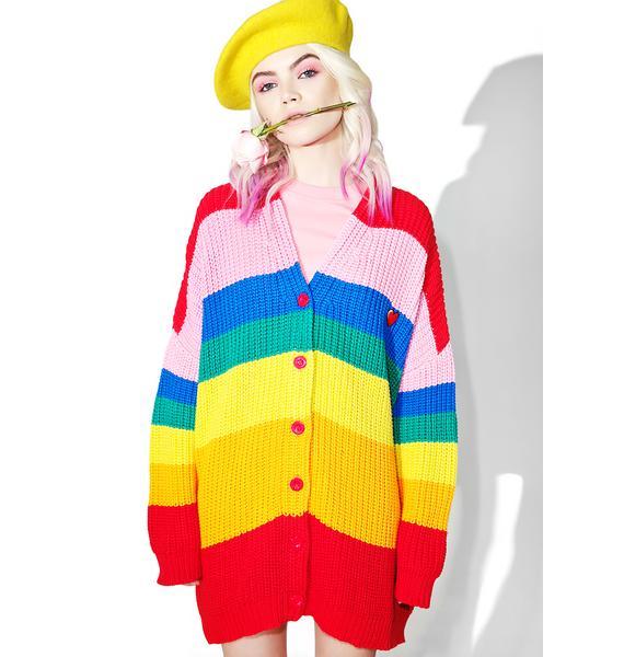 Lazy Oaf Rainbow Cardigan