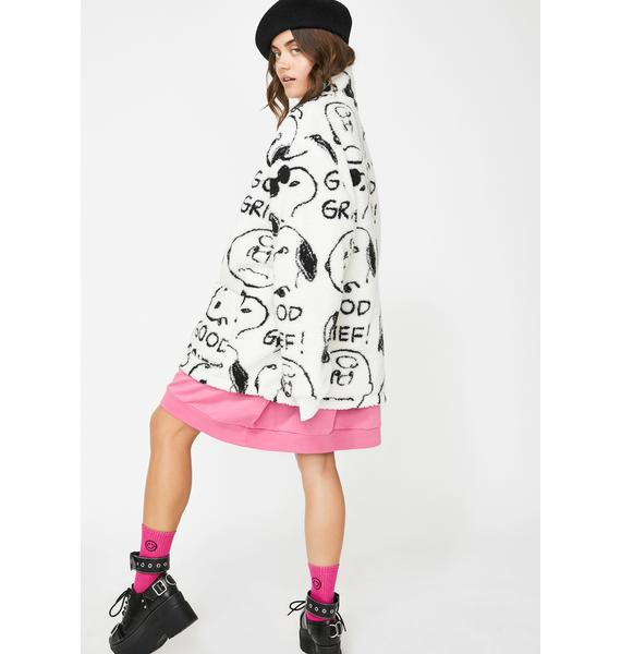 Lazy Oaf x Peanuts Good Grief Fleece Jacket