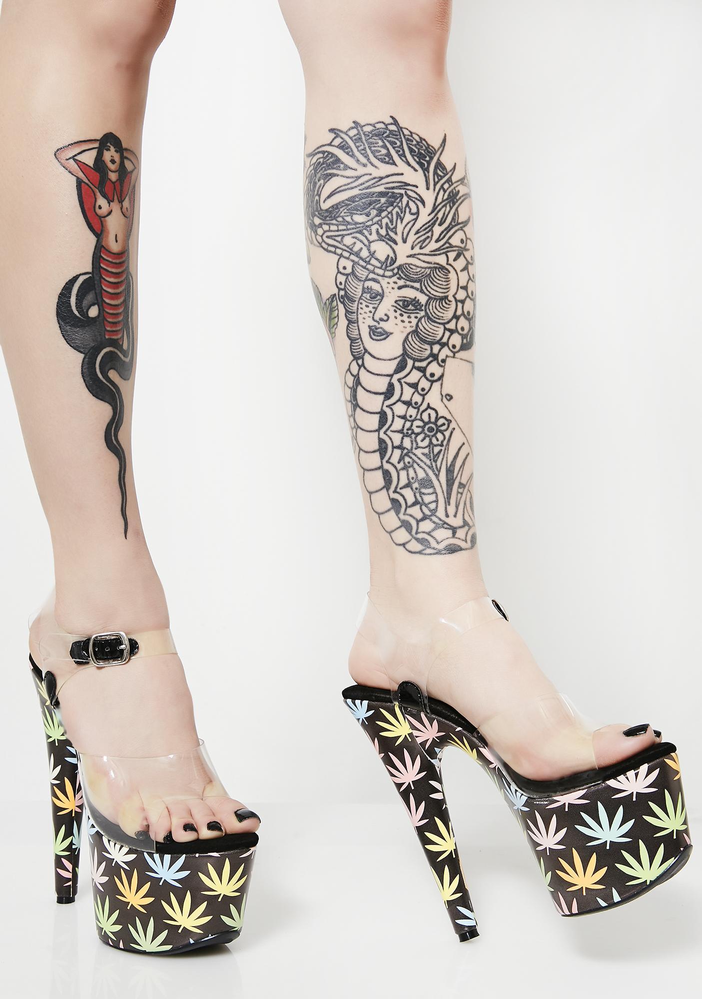 Ganja Babe Platform Heels