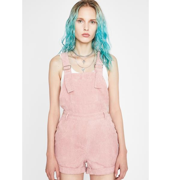 Candy Could Care Less Corduroy Shortalls