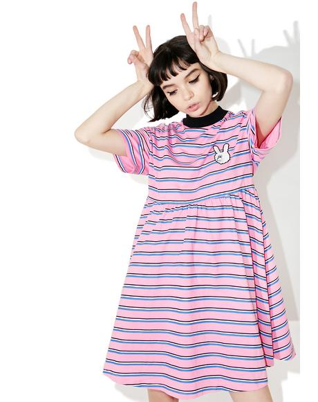 Striped Bunny Dress