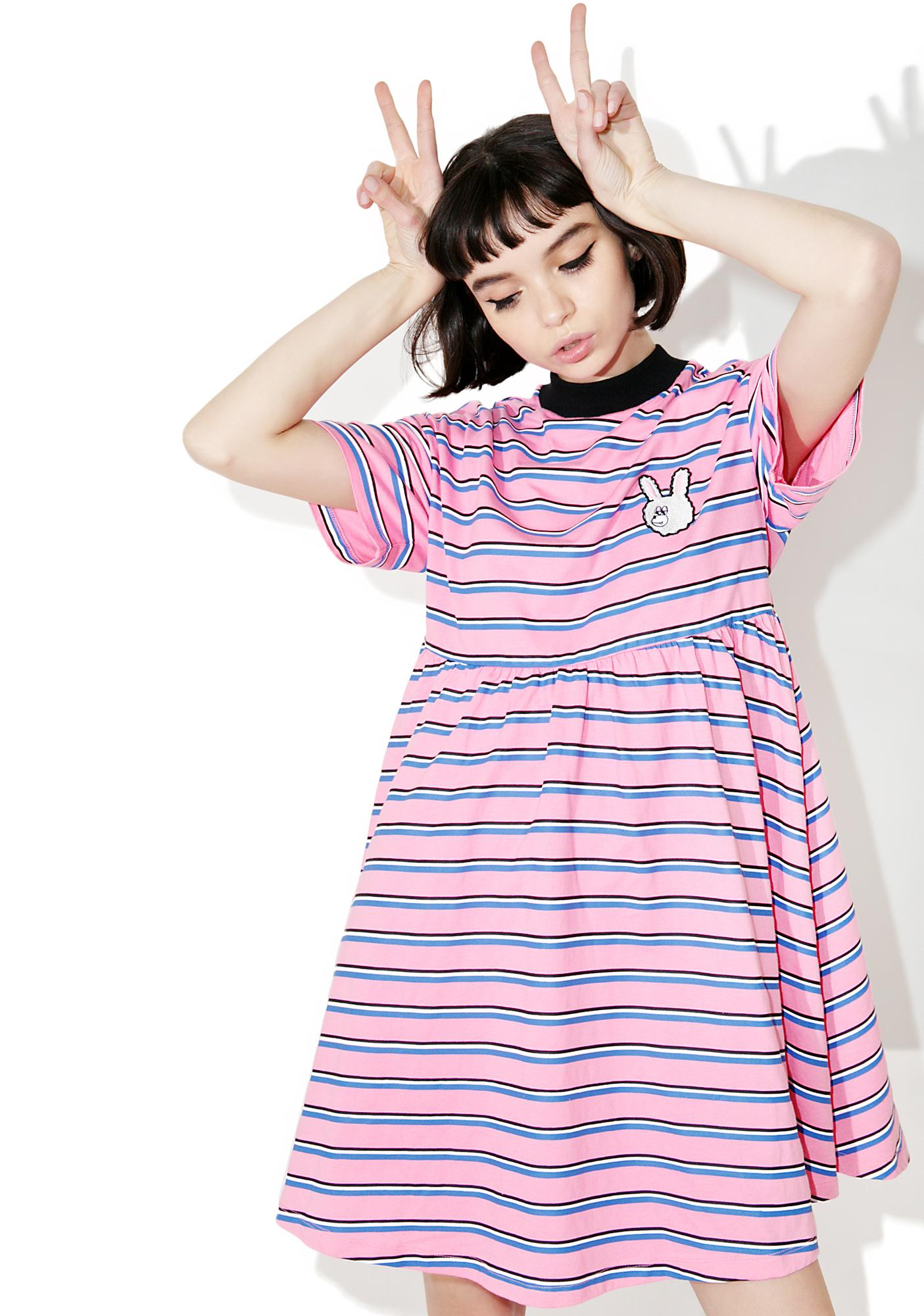Lazy Oaf Striped Bunny Dress