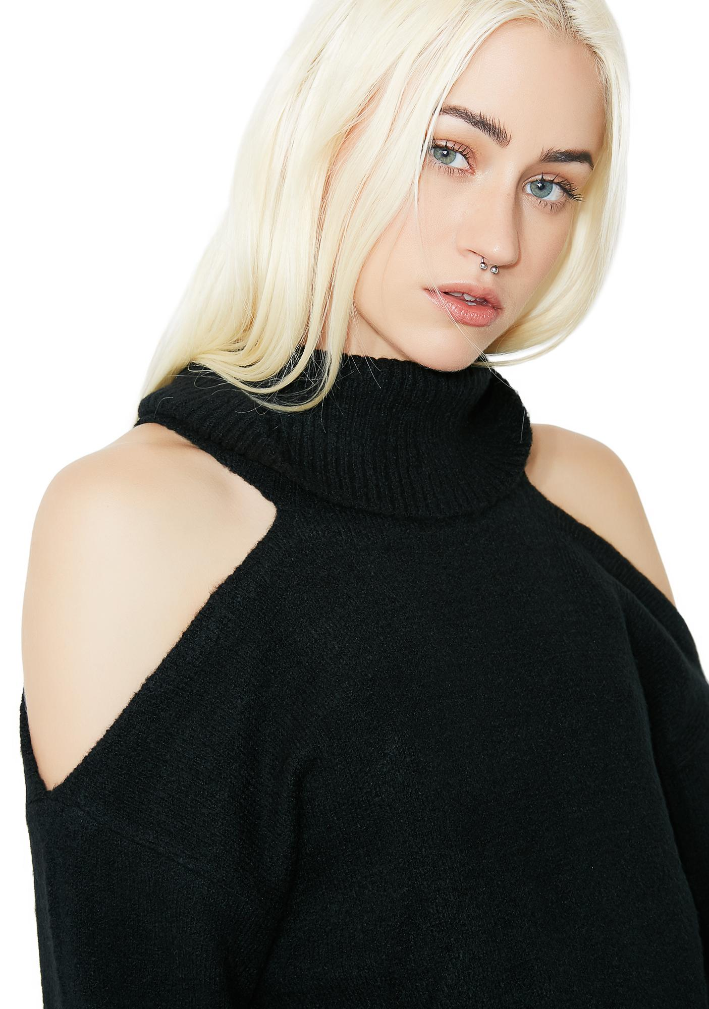 Open Arms Turtleneck Sweater