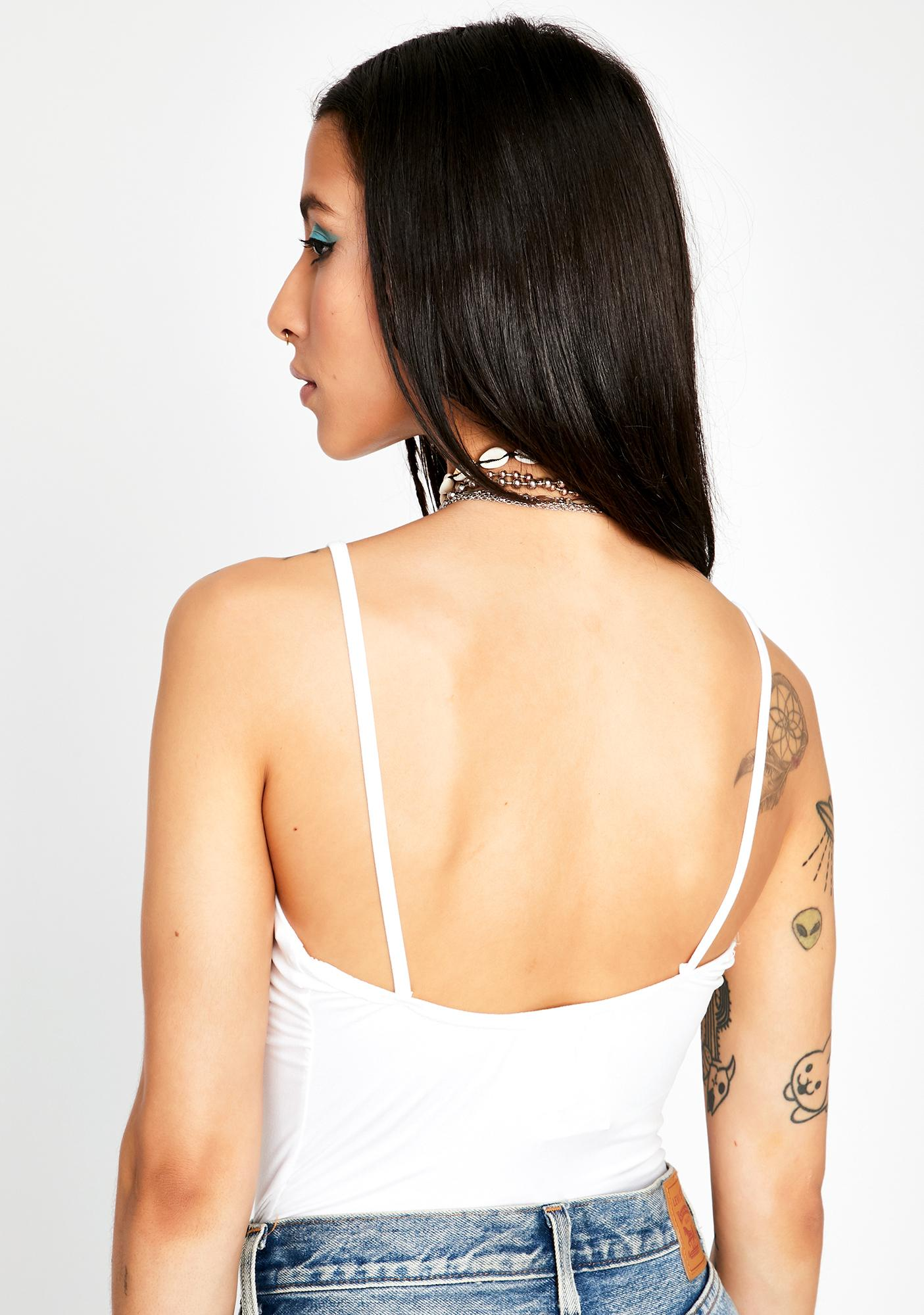 Boo Make The Cut Front Tie Bodysuit
