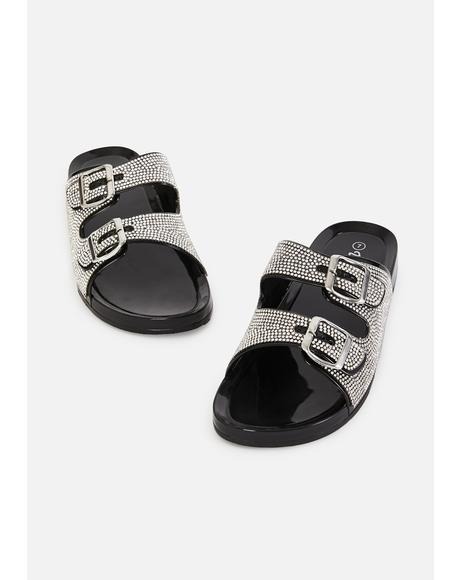 Bling Sleek Freak Buckle Sandals